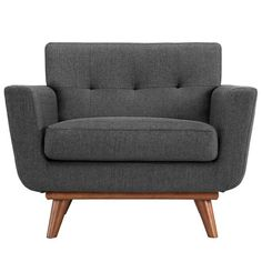 Gently sloping curves and large dual cushions create a favorite lounging spot. Whether plopping down after a long day at work, settling in with coffee and brunch, or entering a spirited discussion wit