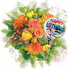 Top Hot birthday images and graphics for You, Happy birthday images and pictures with quotes, wishis for everybody. A birthday is only once a year, … Happy Birthday Bouquet, Happy Birthday Ecard, Birthday Wishes, Birthday Cards, Happy Birthday Pictures, Flower Arrangements, Beautiful Flowers, Floral Wreath, Birthdays
