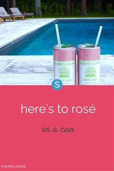 Canned rosé exists, and you have the company Pampelonne to thank for bringing it into your life. The brand also makes a canned red sangria, just in case that's more your style.