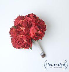 Peony Bouquet, Wedding Bouquet, Silk Peonies, Silk Flowers, Flower Arrangement…