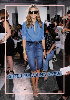 New York Fashion Week Spring 2015 : Olivia Palermo At Noonoo Olivia Palermo Outfit, Olivia Palermo Stil, Denim Attire, Denim Outfit, Estilo Jeans, Denim Branding, Street Style, Models, New York
