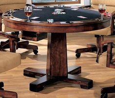 Marietta Black Convertible Bumper Pool U0026 Poker Dining Table, 100171, Coaster
