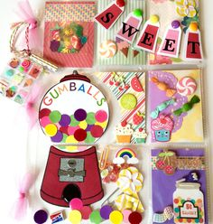 Candy Store Pocket Letter ~ I love gumball machines. Gumball Machine and Candy Store Pocket Letter.