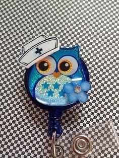 Retractable ID Badge Holder  Nurse Hooter by SPalos on Etsy, $10.00
