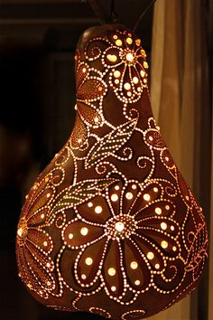 Gourd Lamp hand crafted gourd whimsical fairy lamptamiredding on etsy