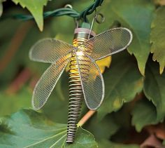 Wire Dragonfly String Lights #potterybarn
