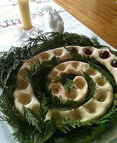 salt dough advent spiral and a beautiful verse.