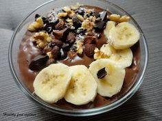 Czekoladowa owsianka Helathy Food, Dairy Free, Gluten Free, Cooking Recipes, Healthy Recipes, Fruit Salad, Sugar Free, Oatmeal, Clean Eating