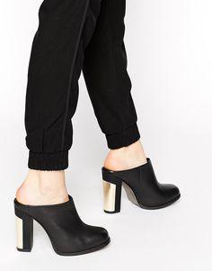 Image 1 ofMiista Kimberly Leather Heeled Mules