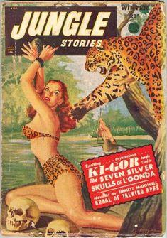 """Jungle Stories - """"Ki-Gor in the Seven Silver Skulls of L'Gonda"""""""