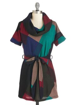 Waking Up to Write Tunic. Begin the day by putting pen to paper, wearing this colorful tunic! #gold #prom #modcloth