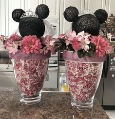 Bridal shower  mouse inspired centerpieces bride by DesignsbyDazey