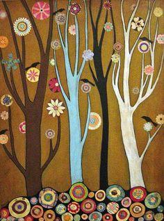 Flower Forest 8x10 Giclee Print Karla Gerard