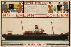 BATAVIER VINTAGE AD POSTER boat cruise NETHERLANDS 1915 24X36 hot collector's Brand New. 24x36 inches. Will ship in a tube. Reproduction of aged original vintage art print. Great wall decor art print