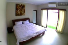Chilli Bali Budha master bedroom with own garden, bathroom and AC