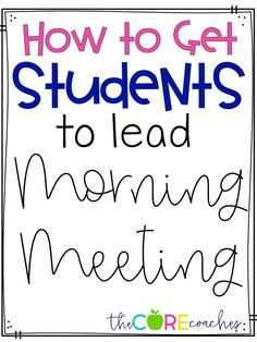 We changed things up in our classrooms by having students lead morning meeting. Allowing students to lead morning meeting is a great way to teach responsibility and leadership skills. It also helps address important speaking and listening standards.