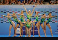 Syncronized swimming-Team France-Love those beautiful swimsuits! Wish the suits were that pretty at the store!