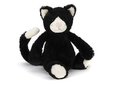 Jellycat's Bashful Black and White Kitten is a splendidly tuxedoed cat! A cuddly feline companion for a new baby or toddler this monochrome mate is a welcome addition to our Young Willow gifts for babies and toddlers.