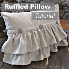 Ruffled Pillow Tutorial  -  PiecedPastimes.BlogSpot.com   (05.19.14)