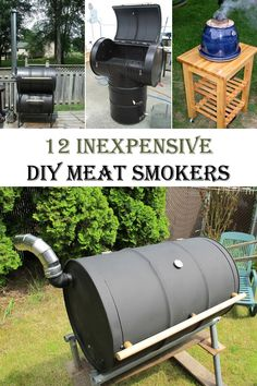 If you want to add a lot of flavor to meat then you should cook it in a smoker. You don't have to spend a lot of money on meat … Homemade Smoker Plans, Meat Smokers, Shop Storage, Home Projects, Diys, Bbq, Backyard, Diy Crafts, Cool Stuff