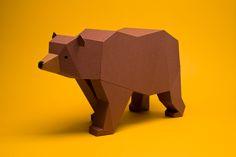 Colección de mamíferos de papel para armarPaper mammal collection to assemble