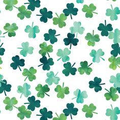 Colorful fabrics digitally printed by Spoonflower - watercolor shamrocks - st patricks day - Best of Wallpapers for Andriod and ios Easter Wallpaper, Spring Wallpaper, Holiday Wallpaper, Cute Wallpaper For Phone, Green Wallpaper, Iphone Background Wallpaper, Cellphone Wallpaper, Fabric Wallpaper, March Backgrounds