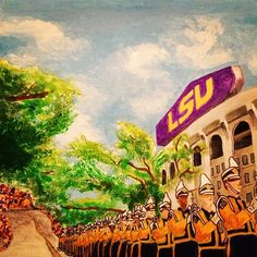Victory Hill, Tiger Stadium, and the Golden Band from Tigerland. #LSU