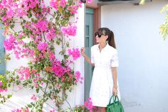 #dresscolorfully classic white shirt-dress