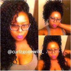 IG: @curlzgonewild_ Crochet Braids Freetress deep Twist. 5 packs. Protective styling. My natural hair journey