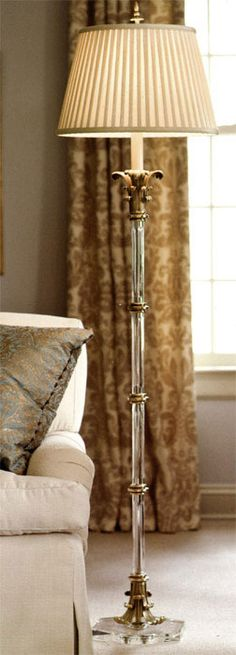 floor lamps   crystal floor lamp with brass accents