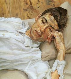 Lucian Freud - has lots of good portraits such as this one, i like the colours and the way the shirt's painted
