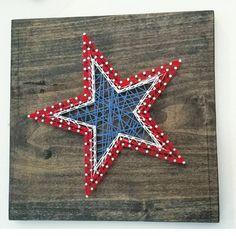 Patriotic String Art | Hello Sunshine Home Decor