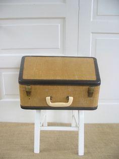 Vintage Typewriter Sewing Machine Suitcase Luggage Case Yellow by vintagejane on Etsy