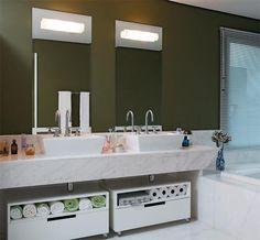 Banheiro com cuba dupla