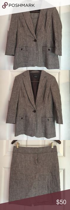 Perfect Bebe Skirt Suit Set - Imported from Italy Gorgeous brown, Spandex and Polyester Suit by Bebe. Seriously flattering style. Think Legally Blonde 👩🏼⚖️👠 Blazer size 6, Skirt size 2. Measurements upon request. Actually fits better than the sizes make it seem. 😉 Bebe Jackets & Coats Blazers