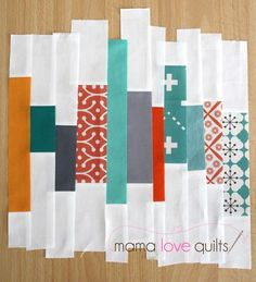 scrappy quilt block tutorial: that white fabric really freshens things up!