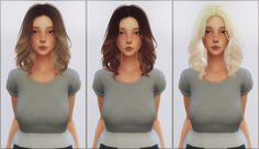 Ellie Simple: Anto`ss Mollie hair retextured - Sims 4 Hairs - http://sims4hairs.com/ellie-simple-antoss-mollie-hair-retextured/