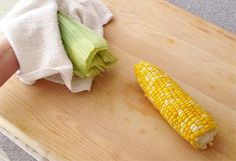 A crazy simple method for cooking corn and shucking in seconds!