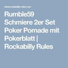 Rumble59 Schmiere 2er Set Poker Pomade mit Pokerblatt   Rockabilly Rules