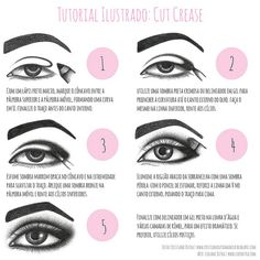 Tutorial Cut Crease by Lidiane Dutra, via Flickr #makeup #cutcrease #tutorial