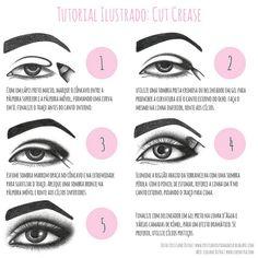 Tutorial Cut Crease by Lidiane Dutra, via Flickr #makeup #cutcrease #tutorial