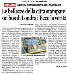 L'articolo sulla Gazzetta del Mezzogiorno #londonbus #gravinainpuglia