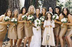 champagne-colored bridesmaids dresses // photo by BraedonsBlog.com
