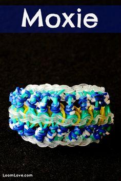 How to Make a Rainbow Loom Moxie Bracelet #rainbowloom