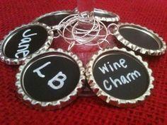 Chalkboard Wine Glass Charms #Etsy