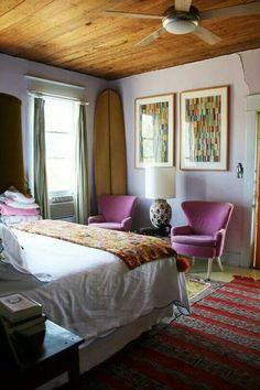 Wand Streifen Schlafzimmer Braun Beige Horizontal Fuchsia Akzente |  Wanddeko Schlafzimmer | Pinterest | Wände Streichen, Wanddeko Schlafzimmer  Und ...