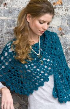 Graceful Shell Shawl Crochet Pattern