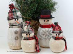 How to make Sock Snowmen