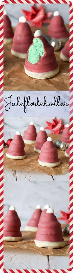 Jeg elsker flødeboller! Jeg har i dag lavet juleflødeboller! De ligner nisserhuer og er inspireret af The Grinch, som er et grønt Who monster, der ikke er glad for julen. Jeg synes, at det er en sjov idé. Men du kan sagtens droppe den grønne farve og bevare en hvid skum. #Flødeboller #Dessert #Kage #Jul Christmas Snacks, Christmas Cooking, Baby Food Recipes, Cake Recipes, Dessert Recipes, Danish Food, Homemade Candies, Food Decoration, Cupcakes