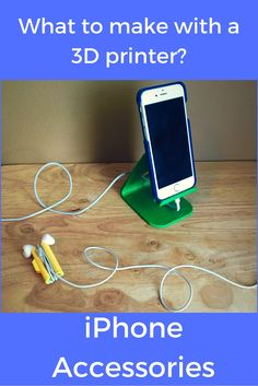 What can you make with a 3D printer? iPhone accessories!  We made an iPhone stand, case and earbud wrap.  #3deveryday #3dprinting #iphone #pla